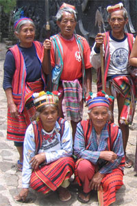 Igorots in native costume, Baguio