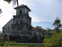 Baclayon Church - one of the attractions on a Countryside Tour of Bohol, in the Philippines