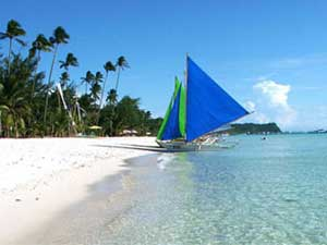 Holidays on White Beach, Boracay - in the Philippines