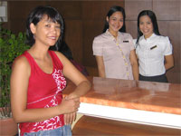 Visiting hotels and resorts