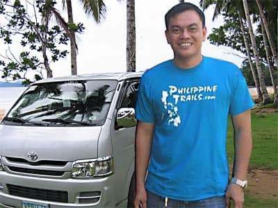 Philippines Tour Guide. Driver and vehicle