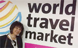 Lucy at World Travel Market, London