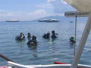 Diver training at Puerto Galera