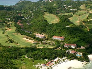Aerial view of Fairways and Bluewater Golf Course on Boracay Island, Philippines