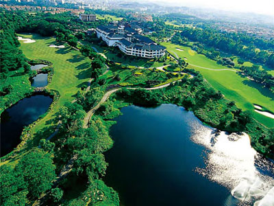 Aerial View of Golf Courses Shenzhen