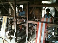 Traditional weaving, Vigan, Philippines