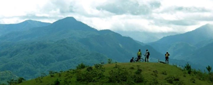 Mountain biking in the Cordillera Mountains, Philippines