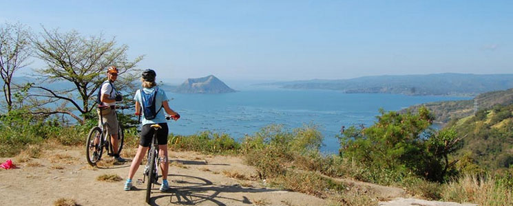 Mountain biking at Tagaytay, Philippines