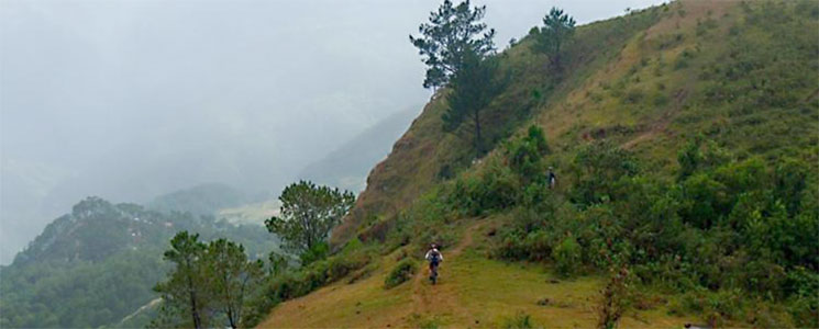 Mountain biking at Sagada, Philippines