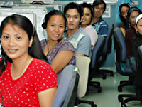 Call centre workers, Philippines
