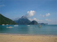 A beautiful photograph of El Nido bay, Philippines