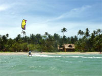 Kite boarding at QI Resort, El Nido, Palawan, Philippines