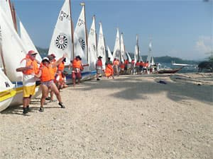 Lear to sail at Puerto Galera in the Philippines