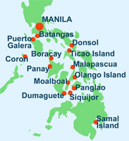 Map of Philippines Dive Sites